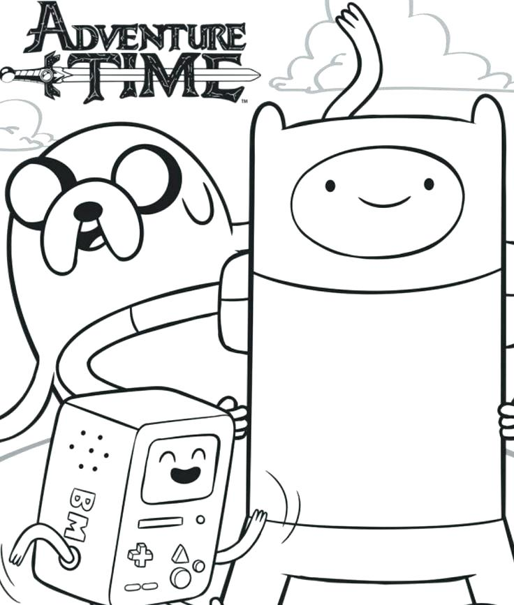 736x867 Finn And Jake Coloring Pages Adventure Time Coloring Pages Full