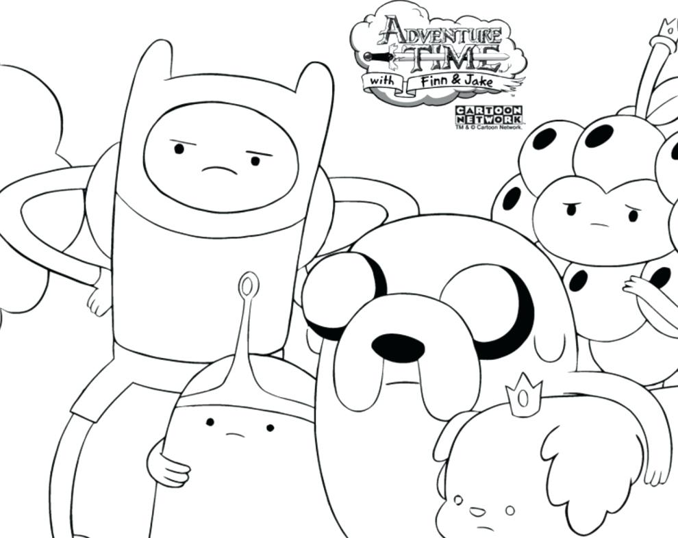 990x786 Inspiring Finn And Jake Coloring Pages Adventure Time Coloring
