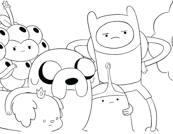 600x464 Printable Finn And Jake Adventure Time Coloring Pages