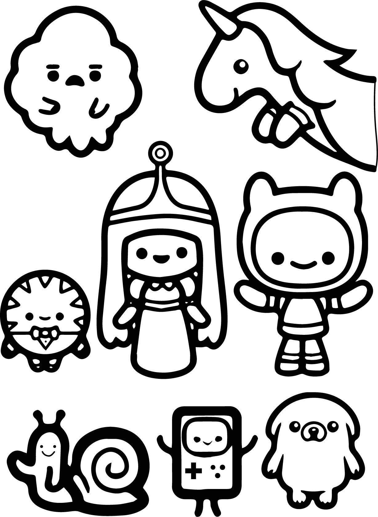 1228x1680 Adventure Time Finn And Jack Child Coloring Page Pages