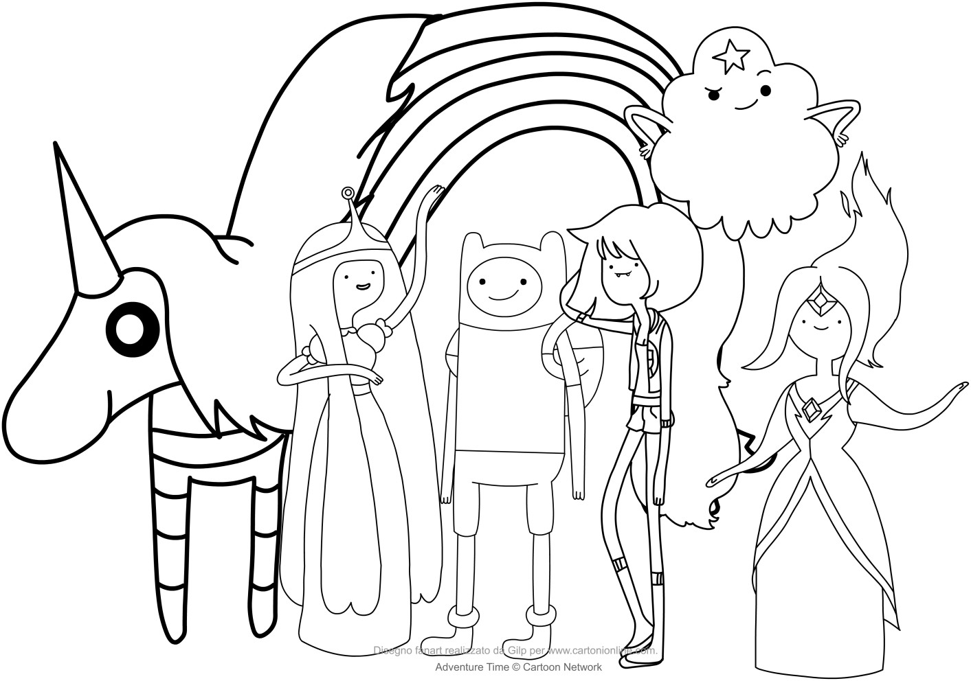 1413x992 Cartoons Free Printable Coloring Pages Adventure Time Tearing Acpra