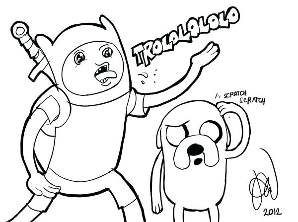 600x447 Finn Y Jake Para Colorear Adventure Time Coloring Pages Printable
