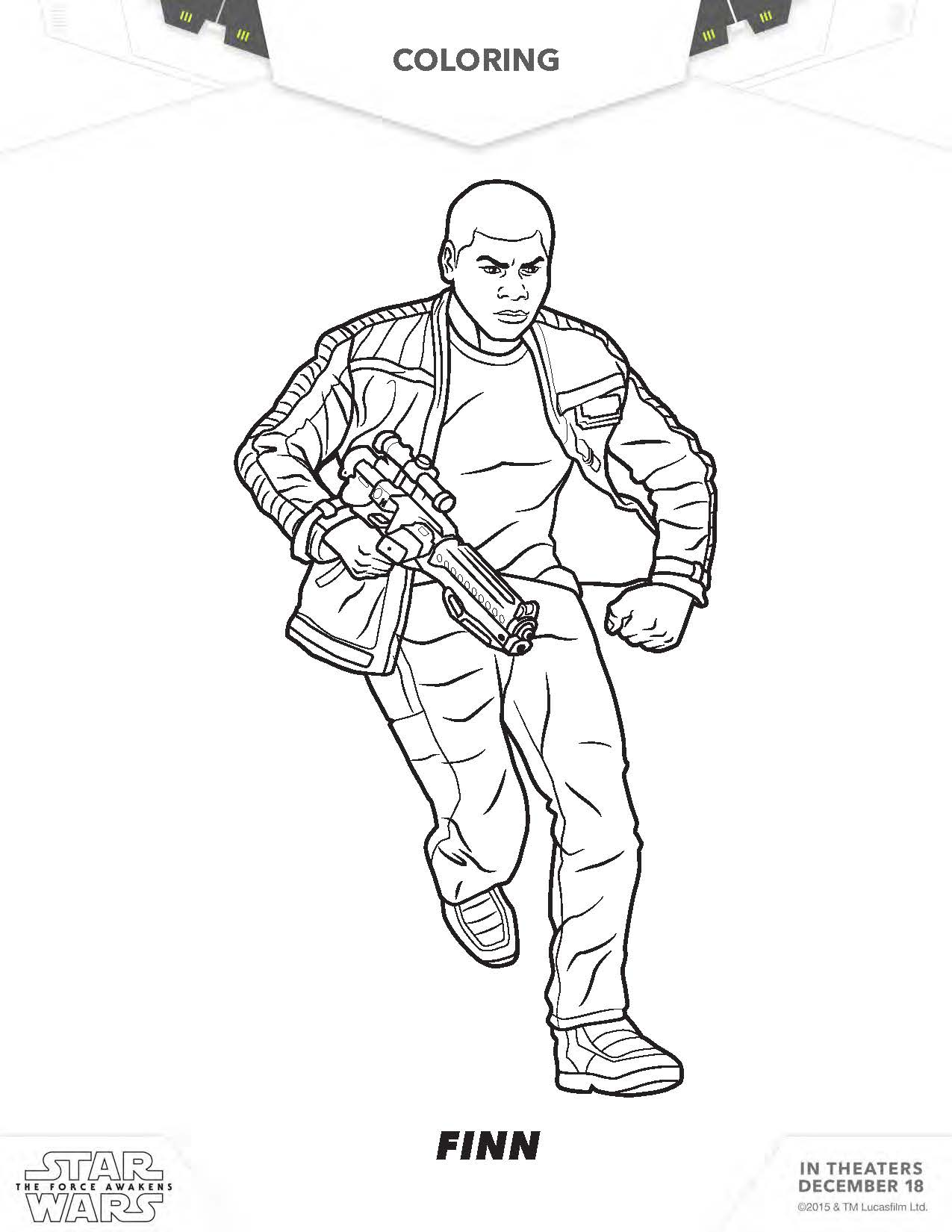 1275x1650 Star Wars Coloring Pages, The Force Awakens Coloring Pages