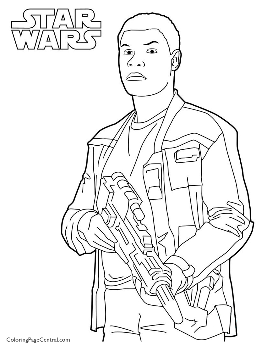 850x1100 Star Wars Finn Page Coloring Page Central