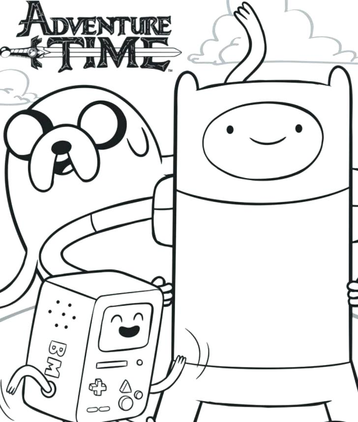 728x859 Adventure Time Coloring Pages Printable Adventure Time Coloring