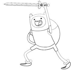 236x233 Adventure Time Finn Versus Ice King Coloring Pages