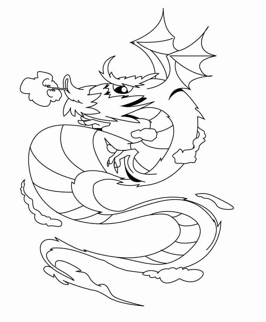 878x1060 Fire Breathing Dragon Colouring Pages Grumpy Cat