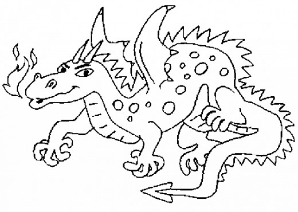 Fire Breathing Dragon Coloring Page at GetDrawings.com ...