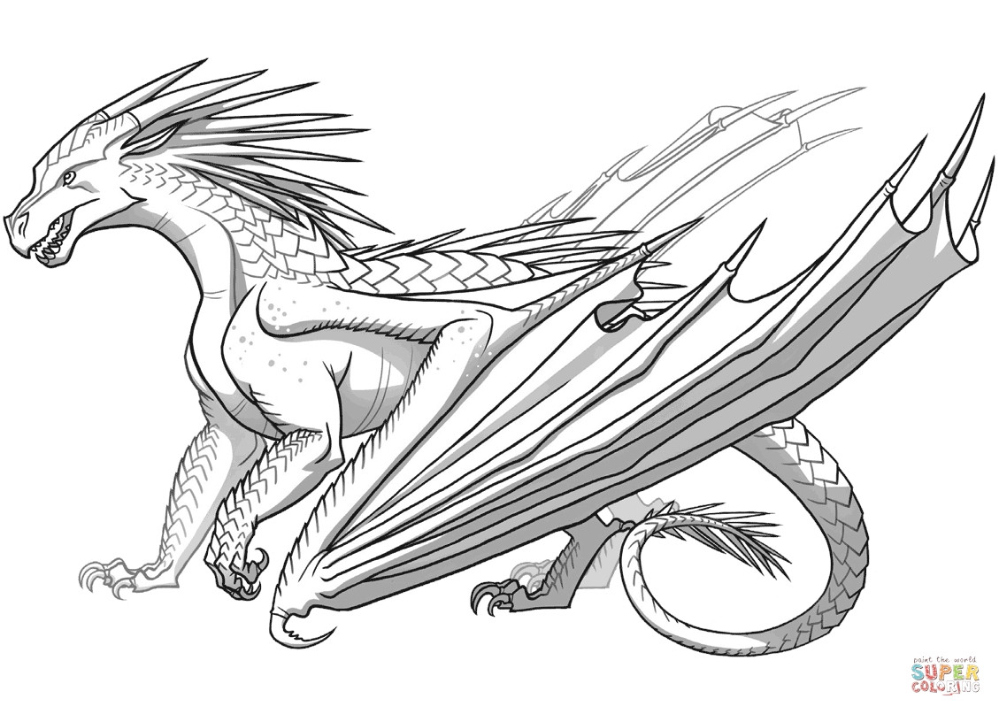 1129x807 Realistic Fire Breathing Dragon Coloring Pages F The Icewing