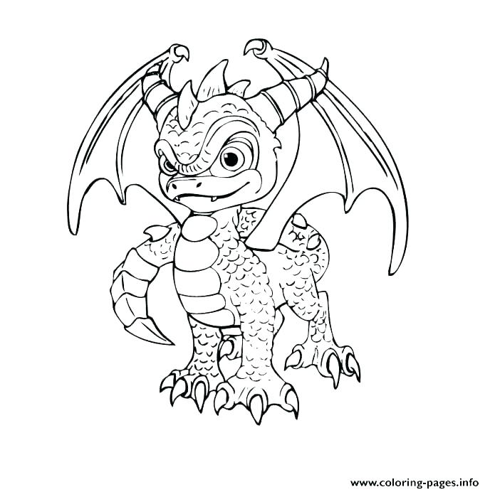 688x692 Dragon Coloring Pages For Adults