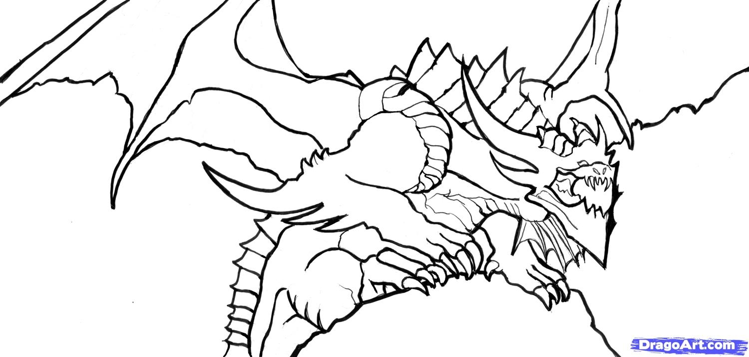 1500x716 Dragon Coloring Pages New Coloring Sheets