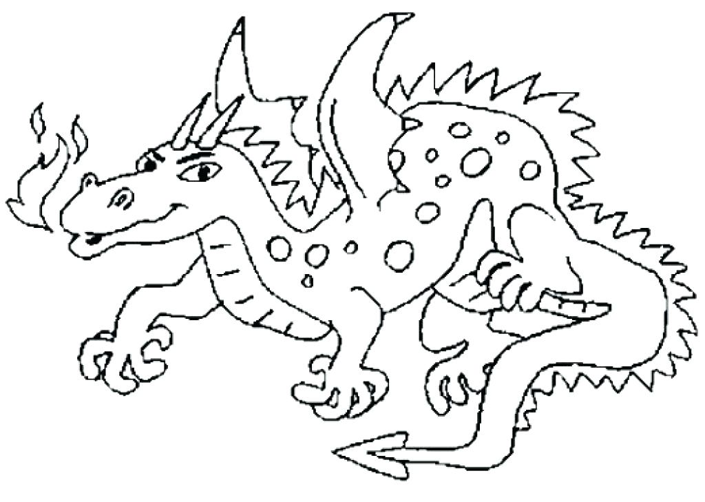 1024x729 Fire Breathing Dragon Coloring Pages Interesting Idea Free