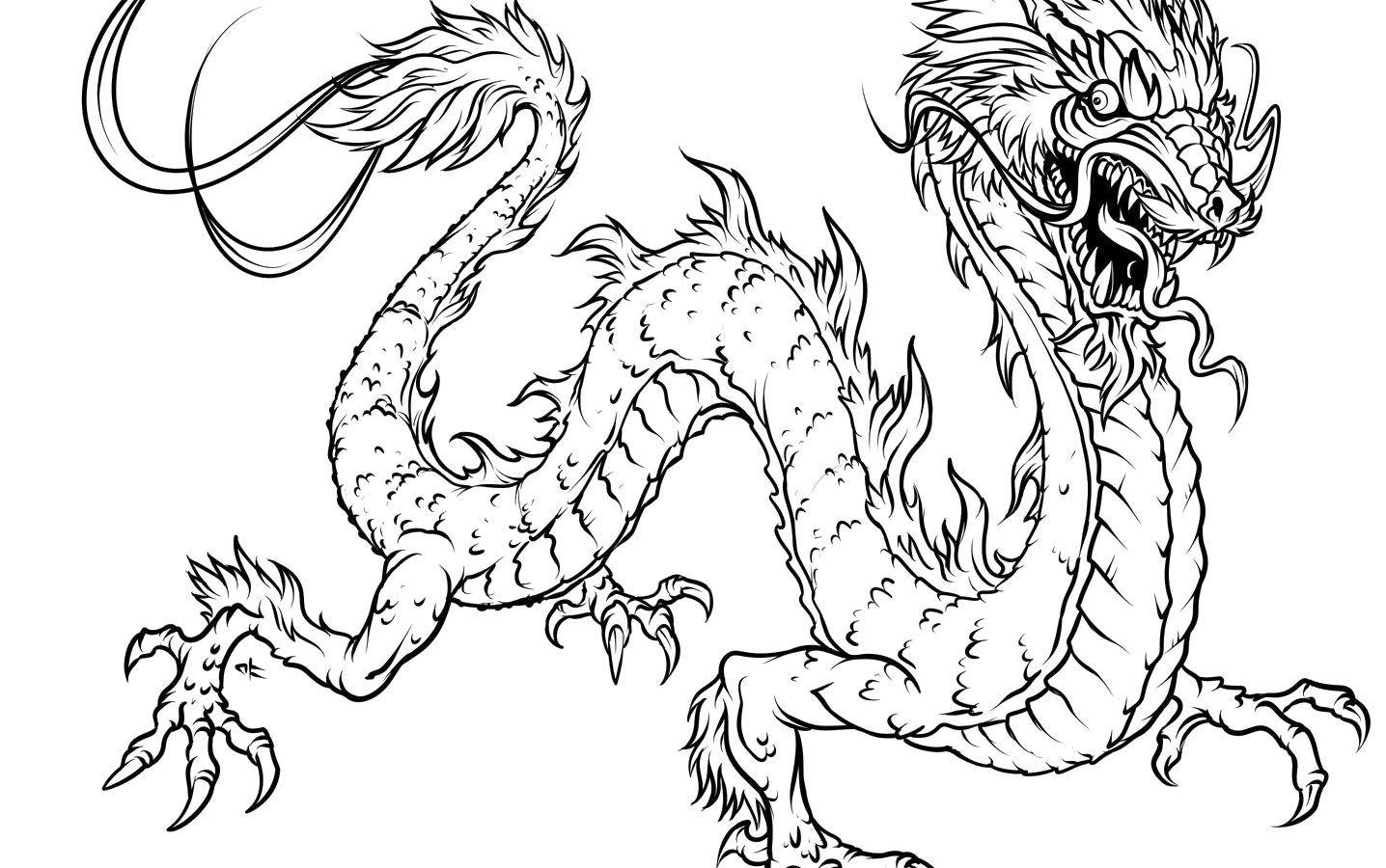 1436x900 Incredible Eye Of Dragon Coloring Page Printable Animals Realistic
