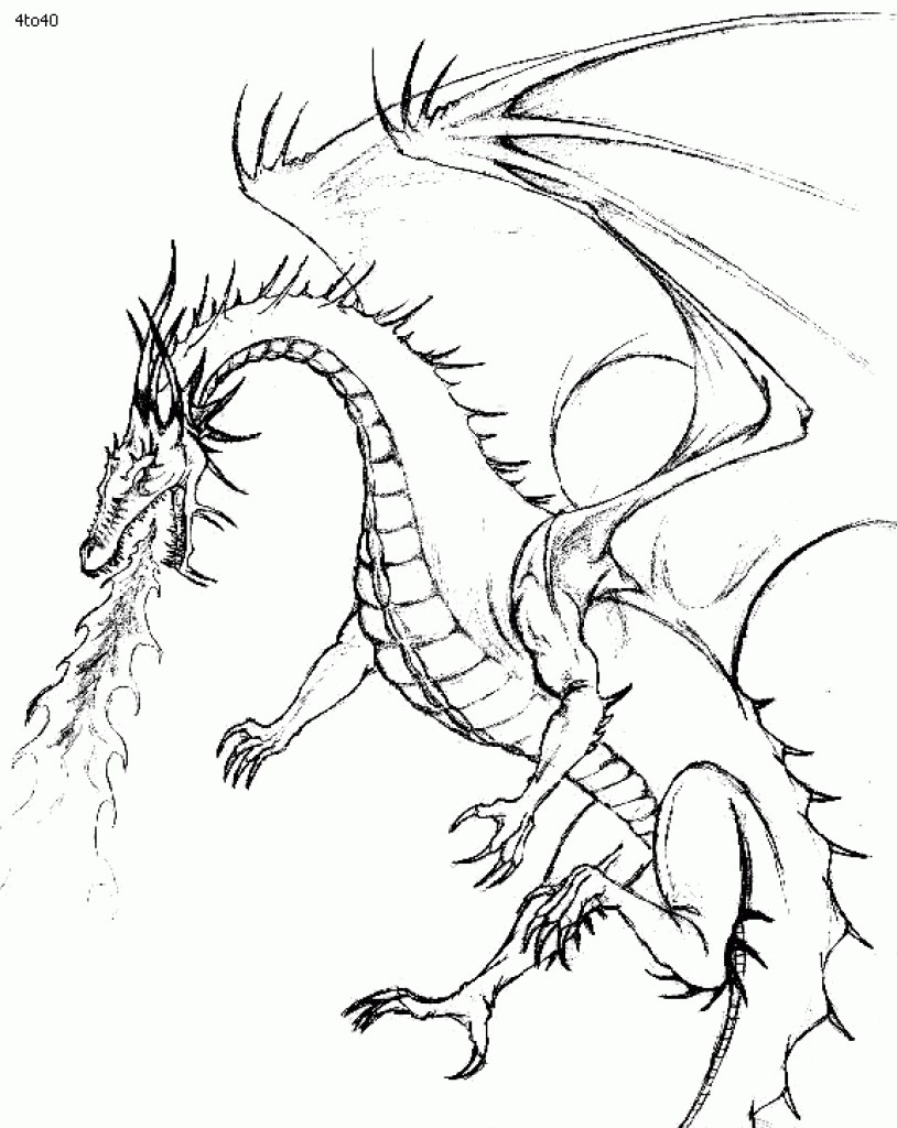 814x1024 Coloring Pages Of Dragons Breathing Fire Copy Fire Breathing