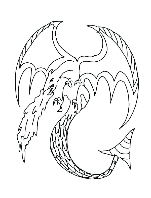 600x784 Realistic Fire Breathing Dragon Coloring Pages Breathi Colori I