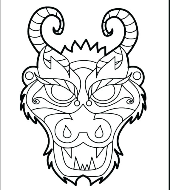 570x637 Coloring Pages Dragons