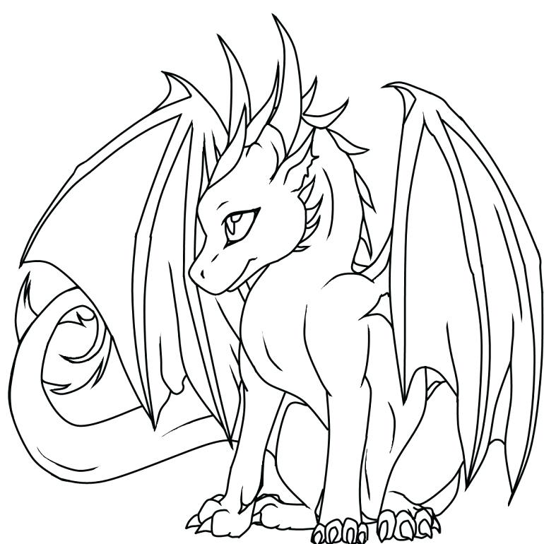 770x770 Fire Dragon Coloring Pages