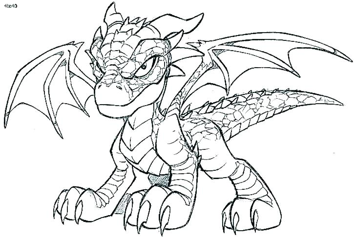 725x487 Realistic Dragon Coloring Pages