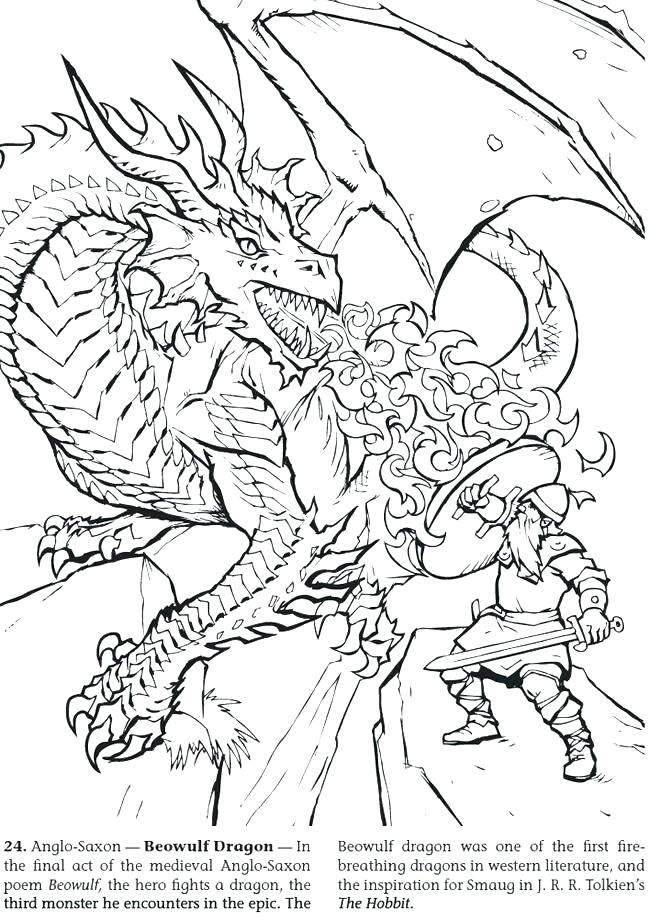 650x920 Cool Dragons Coloring Pages For Free Kids