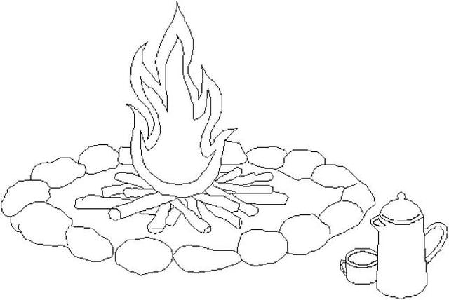 640x428 Fire Coloring Pages Printable