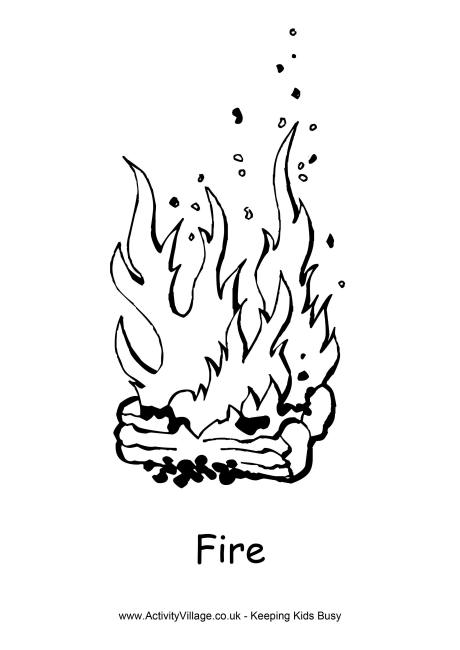 460x650 Fire Colouring Page