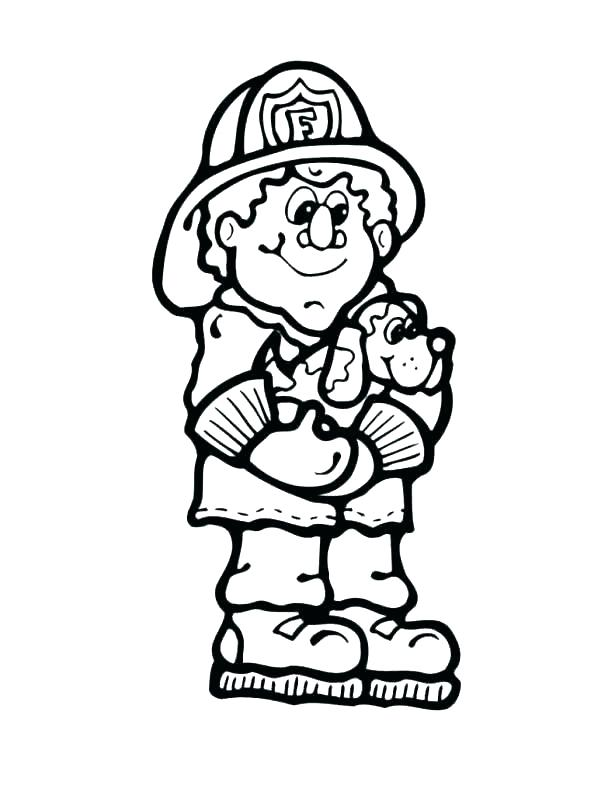 615x795 Fire Safety Coloring Pages