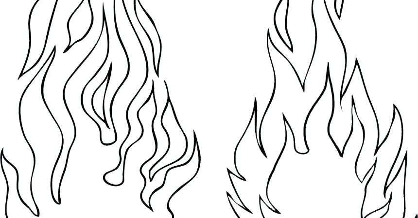 860x450 Fire Coloring Sheets