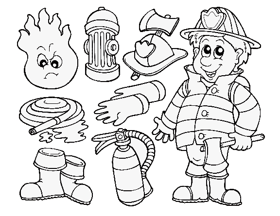 576x445 Fire Fighting Coloring Pages Interesting Firefighter Coloring Page