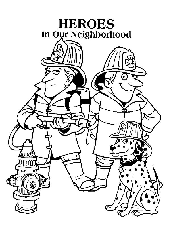 595x842 Firefighter Coloring Pages To Print