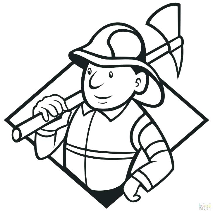 728x723 Fireman Coloring Page Fire Fighter Coloring Pages Fire Fighting