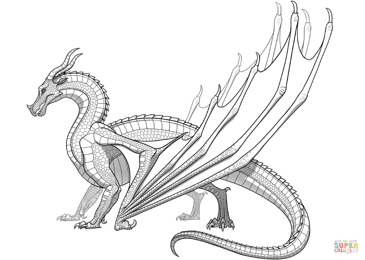 1170x836 Fortune Wings Of Fire Coloring Page Mudwing Dragon From Free