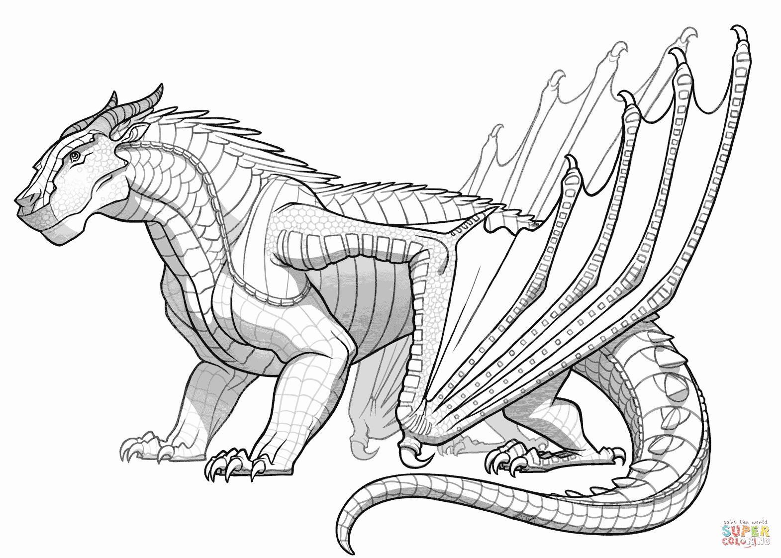 1570x1122 Printable Animal Coloring Pages Inspirational Mudwing Dragon