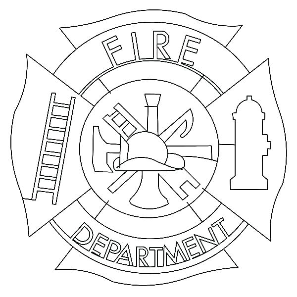600x600 Fireman Coloring Pages