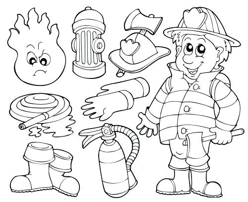 500x407 Fire Coloring Pages Printable Fire Fighter Coloring Pages Fireman