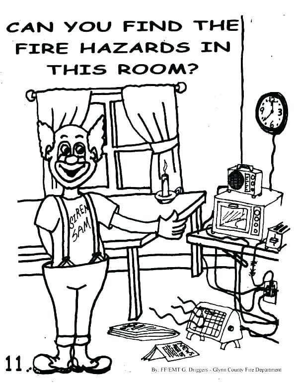 600x776 Fire Safety Colouring Pages Prevention Coloring Page Free