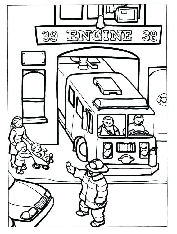 570x750 Firefighter Coloring Page Fire Department Coloring Pages