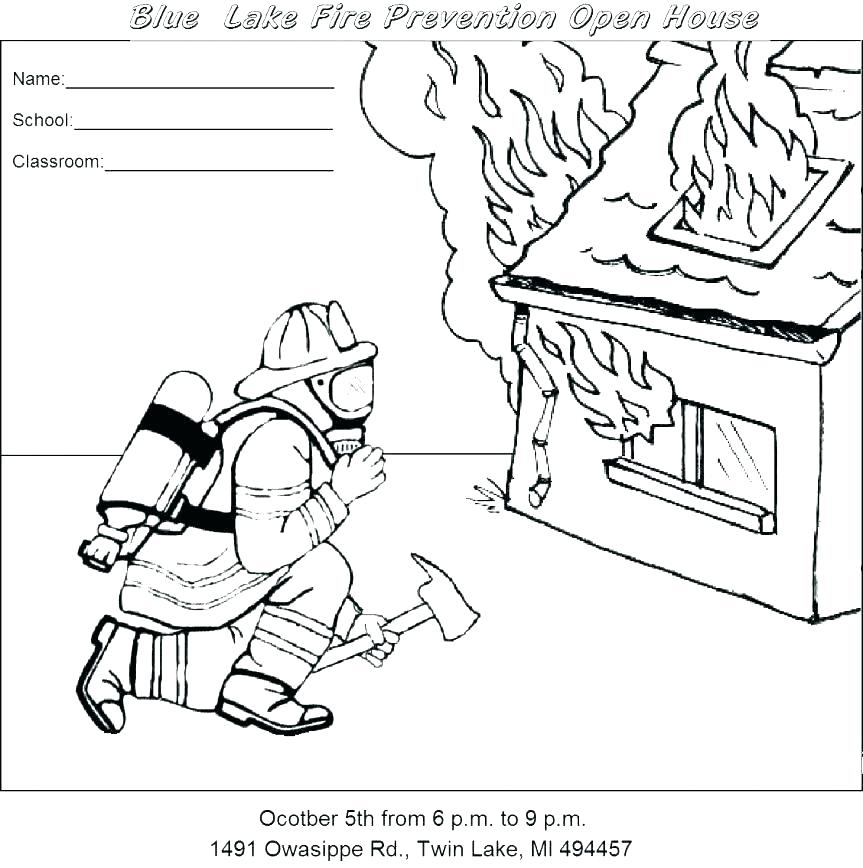 863x868 Free Fire Safety Coloring Pages Free Fire Safety Coloring Pages