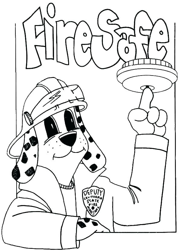 600x831 Fire Department Coloring Pages Fire Truck Coloring Page Fire Fire
