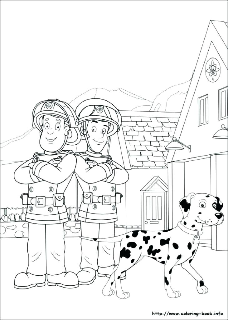 731x1024 Fire Department Coloring Pages Firefighter Hat Coloring Page Fire