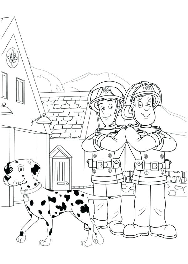 600x840 Fire Department Coloring Sheets Kids Coloring Coloring Pages