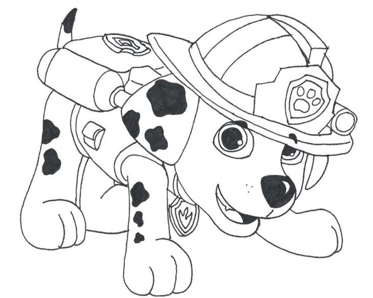 728x582 Fire Dog Coloring Pages
