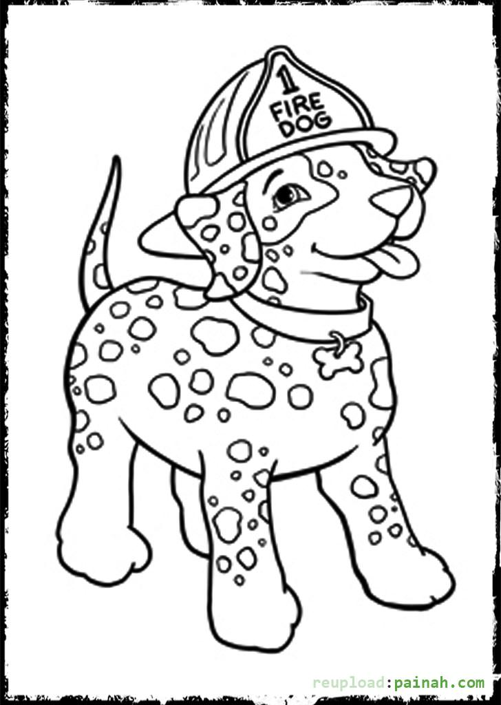 728x1024 Fire Dog Coloring Pages Dalmatian Fire Dog Coloring Pages Many