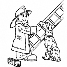 230x230 Firefighter Coloring Pages
