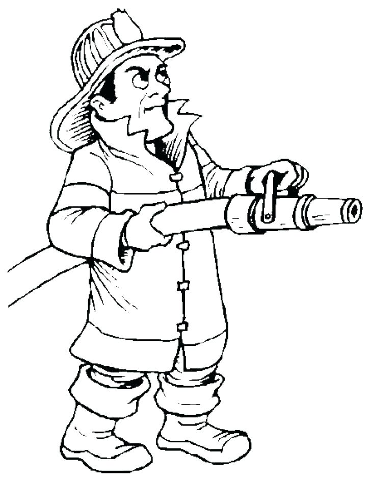 728x939 Fireman Coloring Pages Fire Fighter Coloring Page Firefighter Hat