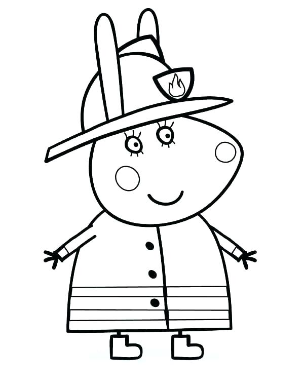 600x764 Fireman Coloring Pages
