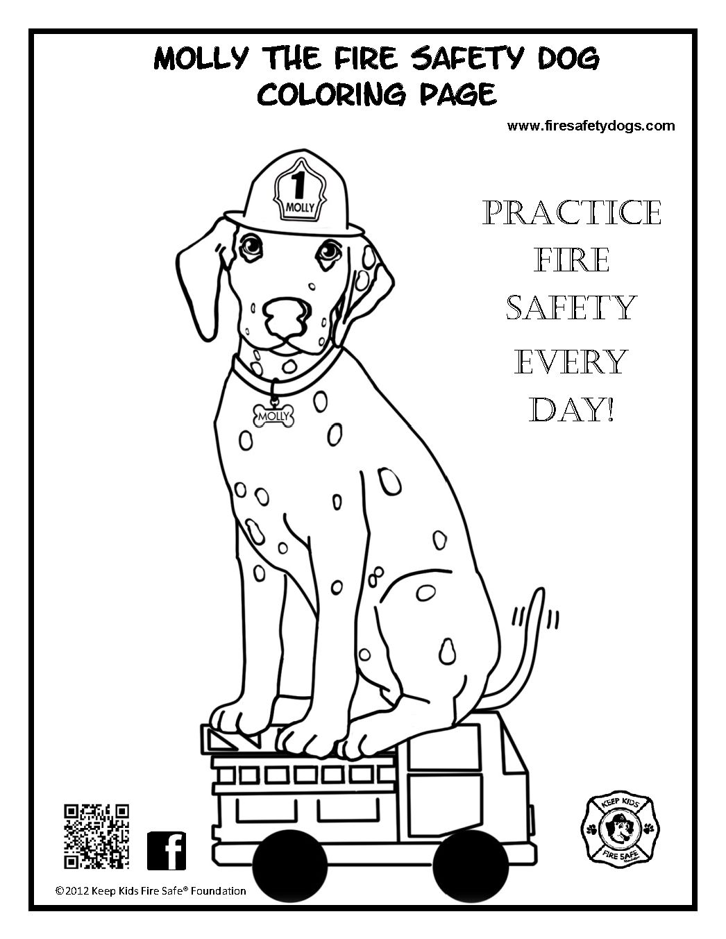 1046x1353 Molly The Fire Safety Dog Coloring Page Inside