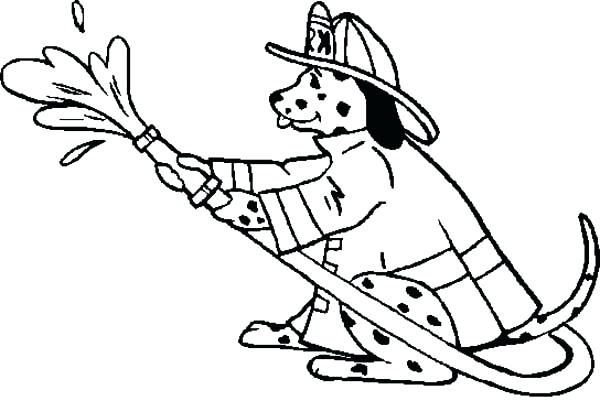 600x401 Sparky The Fire Dog Coloring Pages Fire Coloring Pages Page