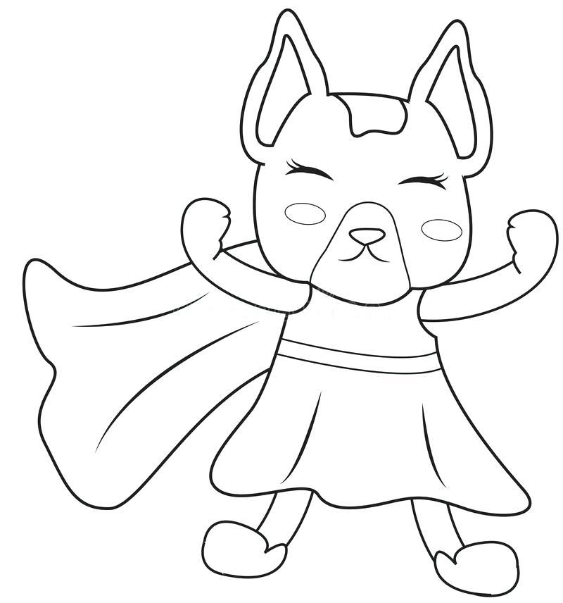 800x856 Superhero Dog Coloring Page Stock Illustration Illustration