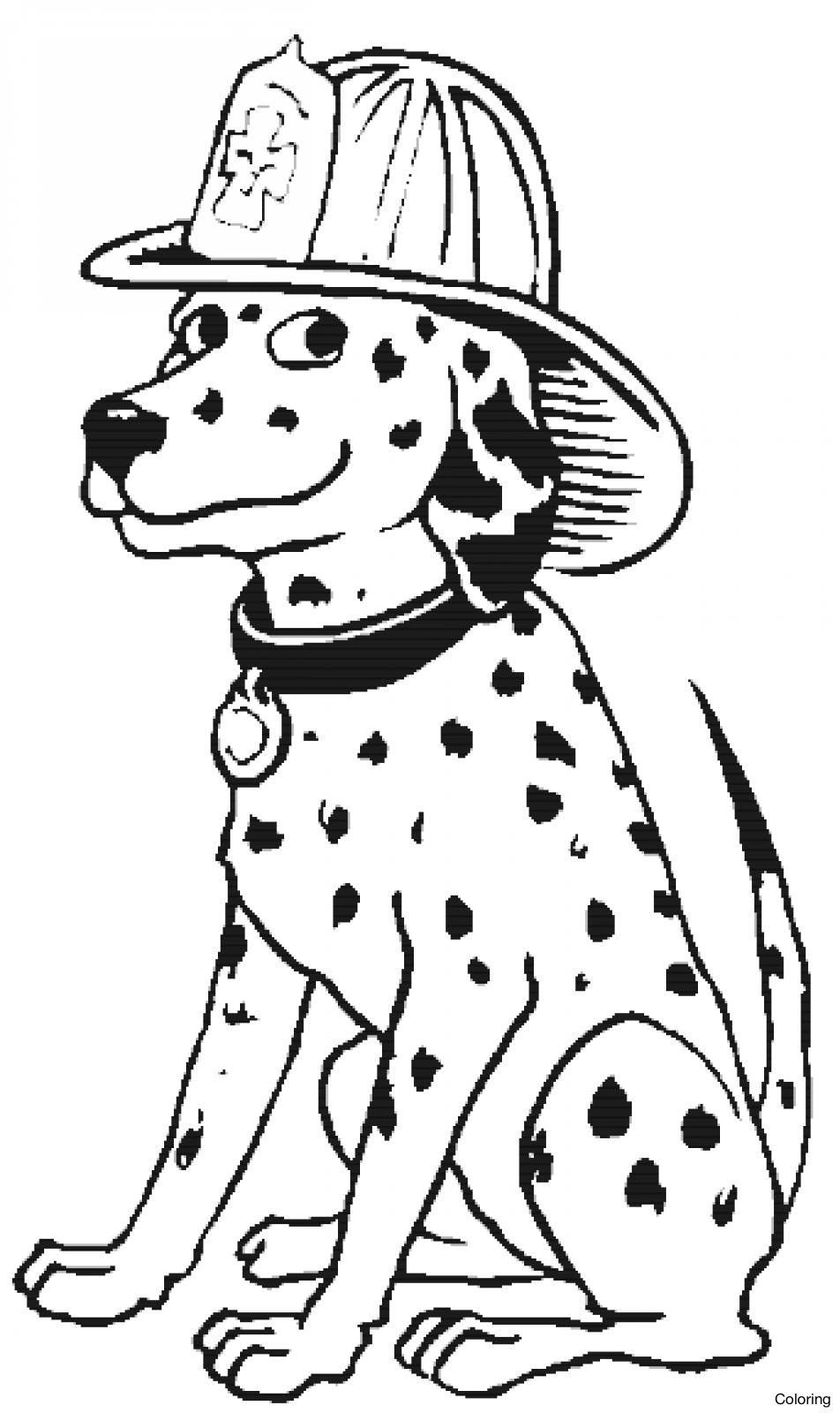 952x1600 The Best Reliable Firefighter Coloring Page Of Sparky Fire Dog
