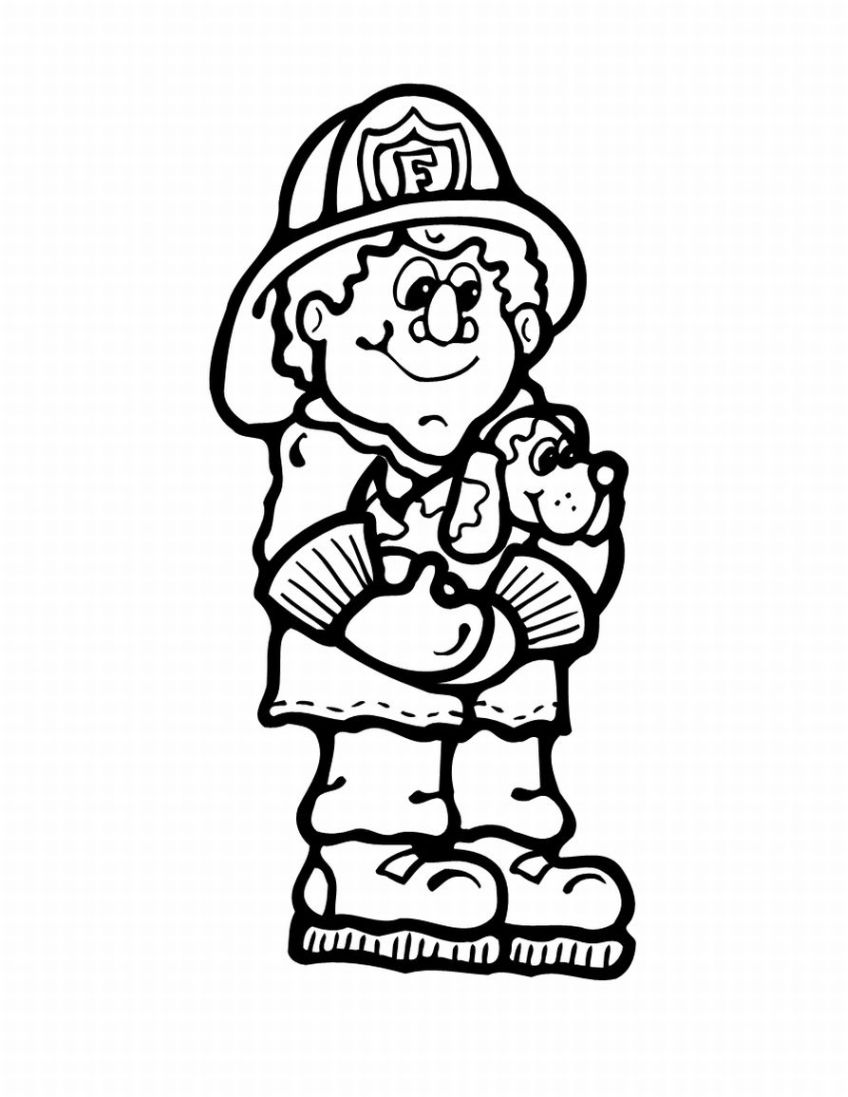 848x1097 Fire Hydrant Coloring Page Throughout